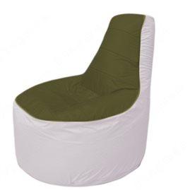 Живое кресло-мешокТрон Т1.1-1125(тем.оливковый-белый)