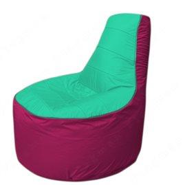 Живое кресло-мешокТрон Т1.1-1204(бирюзовый-фуксия)
