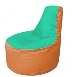 Живое кресло-мешокТрон Т1.1-1205(бирюзовый-оранжевый)