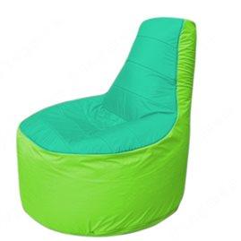Живое кресло-мешокТрон Т1.1-1207(бирюзовый-салатовый)