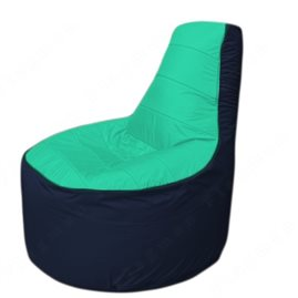 Живое кресло-мешокТрон Т1.1-1216(бирюзовый-тем.синий)