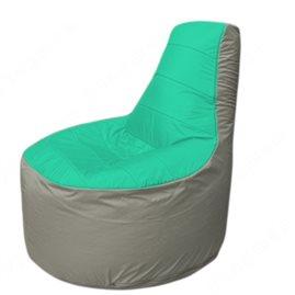 Живое кресло-мешокТрон Т1.1-1222(бирюзовый-серый)