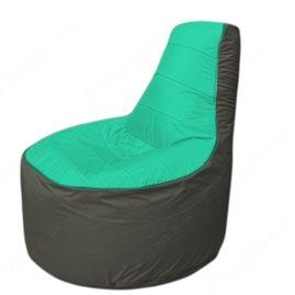 Живое кресло-мешокТрон Т1.1-1223(бирюзовый-тем.серый)
