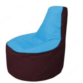 Живое кресло-мешокТрон Т1.1-1301(голубой-бордовый)