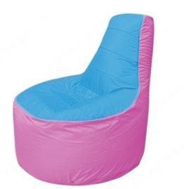 Живое кресло-мешокТрон Т1.1-1303(голубой-розовый)