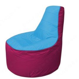Живое кресло-мешокТрон Т1.1-1304(голубой-фуксия)