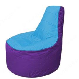 Живое кресло-мешокТрон Т1.1-1318(голубой-фиолетовый)