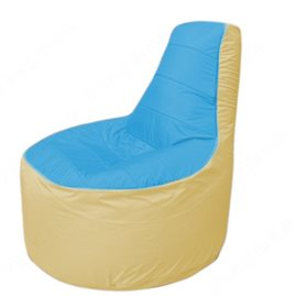 Живое кресло-мешокТрон Т1.1-1320(голубой-бежевый)