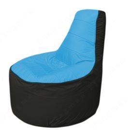 Живое кресло-мешокТрон Т1.1-1324(голубой-чёрный)