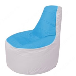 Живое кресло-мешокТрон Т1.1-1325(голубой-белый)
