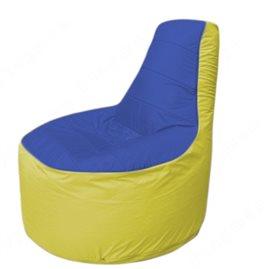 Живое кресло-мешокТрон Т1.1-1406(синий-жёлтый)