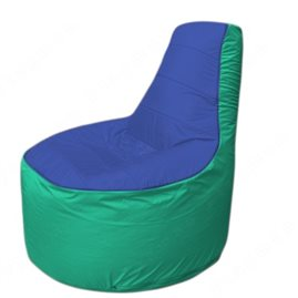 Живое кресло-мешокТрон Т1.1-1412(синий-бирюзовый)