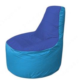Живое кресло-мешокТрон Т1.1-1413(синий-голубой)
