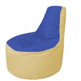 Живое кресло-мешокТрон Т1.1-1420(синий-бежевый)