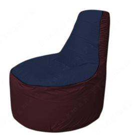 Живое кресло-мешокТрон Т1.1-1601(тем.синий-бордовый)
