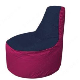 Живое кресло-мешокТрон Т1.1-1604(тем.синий-фуксия)