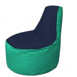 Живое кресло-мешокТрон Т1.1-1612(тем.синий-бирюзовый)