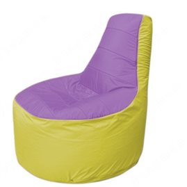 Живое кресло-мешокТрон Т1.1-1706(сиренивый-желтый)