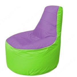 Живое кресло-мешокТрон Т1.1-1707(сиренивый-салатовый)