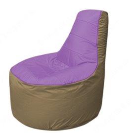 Живое кресло-мешокТрон Т1.1-1721(сиренивый-тем.бежевый)