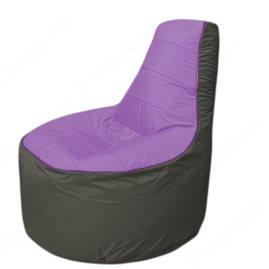 Живое кресло-мешокТрон Т1.1-1723(сиренивый-тем.серый)