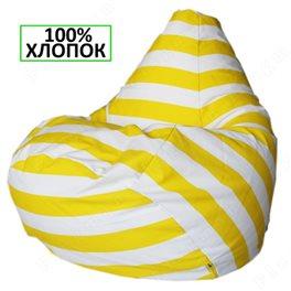 Кресло-мешок Груша Жёлтый полосатик