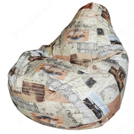 Бескаркасное кресло-мешок Груша Старинная карта