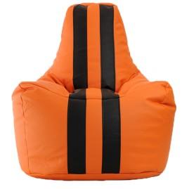 Кресло-мешок Спортинг экокожа с полосками (75 х 100 см)