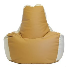Кресло-мешок Спортинг экокожа песочно-белый