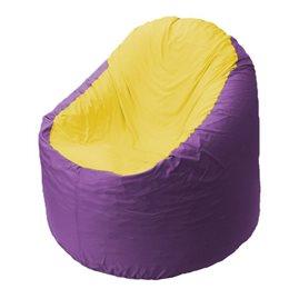 Кресло-мешок Bravo сиреневое, сидушка желтая