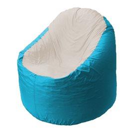 Кресло-мешок Bravo бирюзовое, сидушка слоновая кость