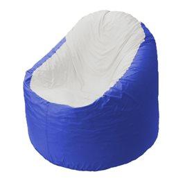 Кресло-мешок Bravo васильковое, сидушка белая