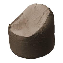 Кресло-мешок Bravo коричневое, сидушка темно-бежевая