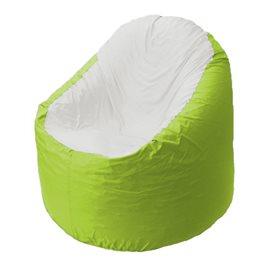 Кресло-мешок Bravo салатовое, сидушка белая
