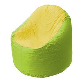 Кресло-мешок Bravo салатовое, сидушка желтая