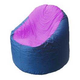 Кресло-мешок Bravo синее, сидушка сиреневая
