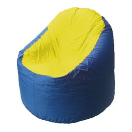 Кресло-мешок Bravo синее, сидушка желтая