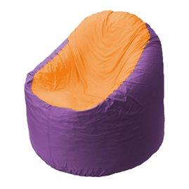Кресло-мешок Bravo сиреневое, сидушка оранжевое
