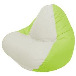 Кресло-мешок RELAX салатовое, сидушка белая