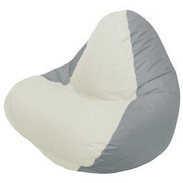 Кресло-мешок RELAX серое, сидушка белая