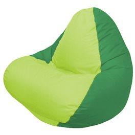 Кресло-мешок RELAX зелёное, сидушка сатовая
