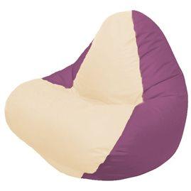 Кресло-мешок RELAX бордовое, сидушка светло - бежевая