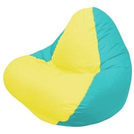 Кресло-мешок RELAX бирюзовое, сидушка жёлтая