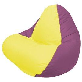 Кресло-мешок RELAX бордовое, сидушка жёлтая