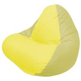 Кресло-мешок RELAX оливковое, сидушка жёлтая