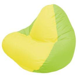 Кресло-мешок RELAX салатовое, сидушка жёлтая