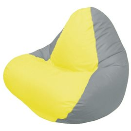 Кресло-мешок RELAX серое, сидушка жёлтая