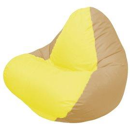 Кресло-мешок RELAX тёмно-бежевое, сидушка жёлтая