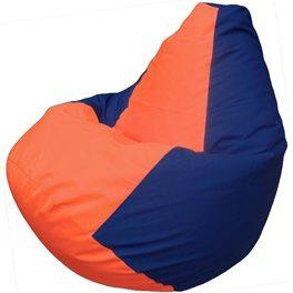 Кресло-мешок Груша Макси оранжево-синее