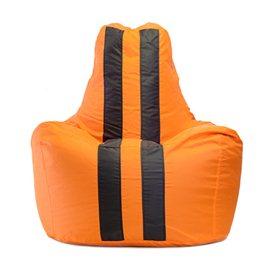 Бескаркасное кресло мешок Спортинг Оранж Блэк